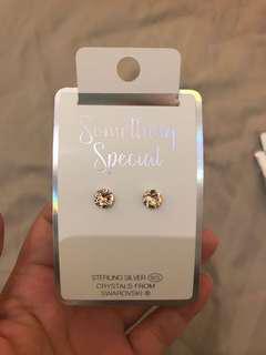 lovisa sterling silver with pink swarovski crystal earring