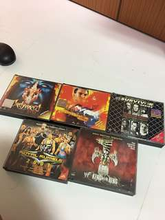 Lots of 5 Wwe wrestling vcd !