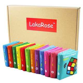 🚚 LakaRose Bilingual Early Childhood Education Fabric Books [12 books/set]