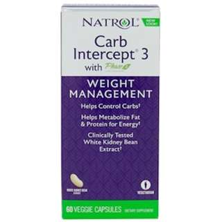 Natrol, Carb Intercept 3 with Phase 2, 60 Veggie Cap