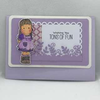 Greeting Card/Birthday card/Cute Girl Card