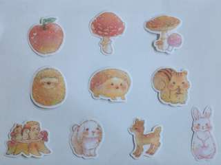 🚚 [BN] Cute Forest Animal Flake Stickers