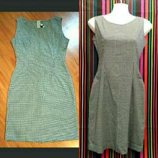 Black White Checkered Dress M