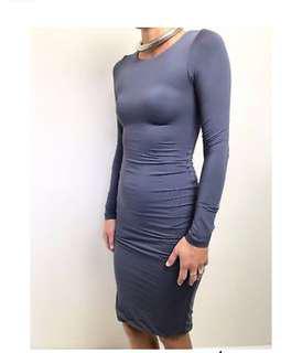 Kookai long sleeve knee length bodycon dress size 1
