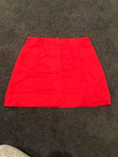 Nude Lucy Red Skirt Cotton Size S