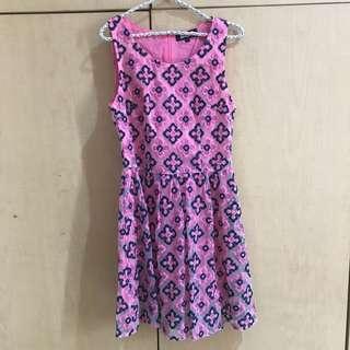 solemio pink dress