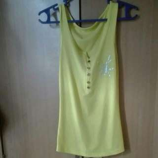 Sleeveless Yellow Top