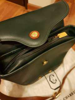 Vintage Philippe Charriol Leather Shoulder Bag