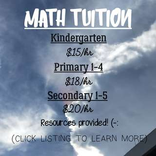 Math Tuition Services