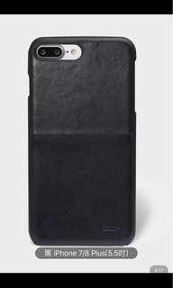 黑色iPhone plus (5.5吋)手機及卡片套殻