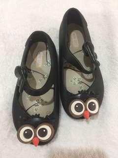 Sepatu Anak - Jelly Shoes OWL Black
