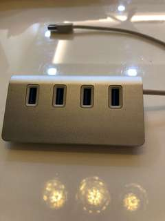 USB HUB 4 port aluminum finish
