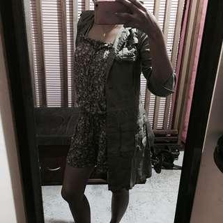 Moss Green Button Down Dress/Coat
