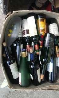 Botol wine bekas