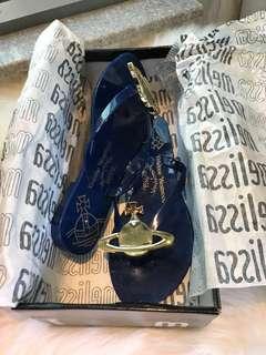 斷碼 正品Melissa x Vivienne Westwood 藍色果涷拖鞋 Size EUR35/36