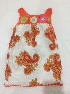 Dress baby bali - 9-12bulan