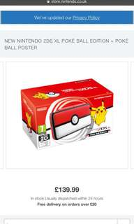 Pokeball Nintendo new 2ds XL