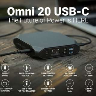 [IN-STOCK] Omnicharge USB-C Portable Power Bank – Omni 20 USB-C – Battery Pack for Laptops, Phones, More