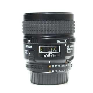 Nikon AF MICRO NIKKOR 60mm F2.8 Lens