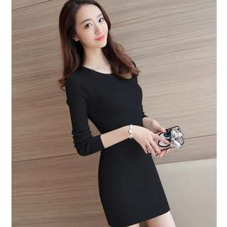 Bodycon Mini Black Dress
