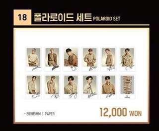 Wanna One World Tour Concert Polaroid Set Loose Item