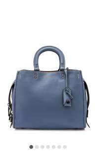 Coach 1949 pebbled leather rouge bag baby blue