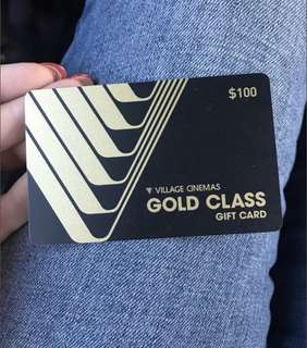 Gold glass voucher