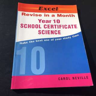 Science Year 10: Revise in a month