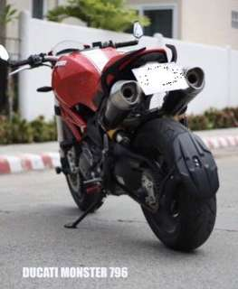 Ducati Monster 796 / Hypermotard 821 Splash Guard / Rear Tyre Hugger - Original STORM Aeroparts Thailand