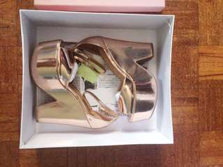 Authentic JEFFREY CAMPBELL Brazen in Rosegold