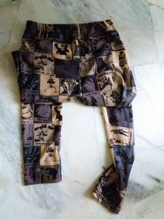 Street wear comic book leggings
