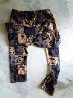 Street wear comic book leggings
