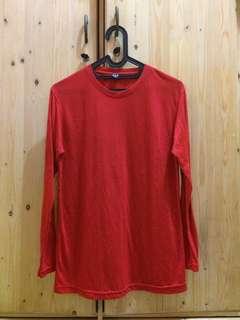 Kaos Lengan Panjang Merah