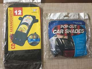 Take 2! Pop Out Car Shades & CD Visor Holder