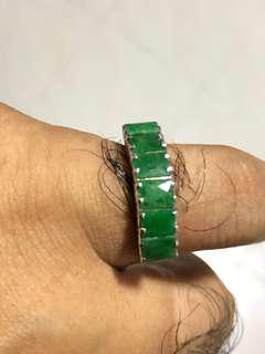 🚚 Burma genuine Jade Ring with 925 silver