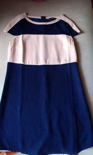 Dress Zalora Biru Krem