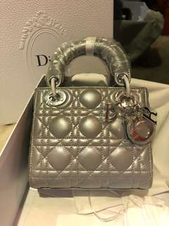 Mini Lady Dior Grey