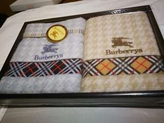 Authentic Burberrys Of London Hand Towel 2pcs