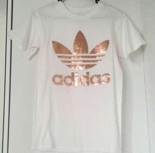 Adidas rose gold tee