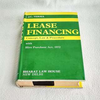 Lease Financing Concept, Law & Procedure by J. C. Verma  -  Law Book