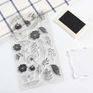 Clear Stamp Flower [Free Local Normal Postage]