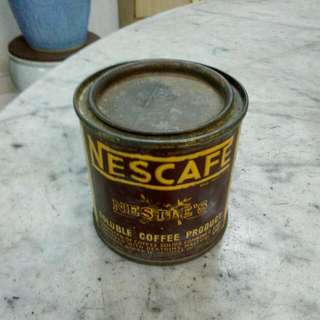 Nestle's Nescafe Small Tin With Chinese Wordings Vintage 3