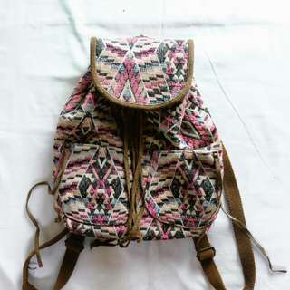 American Eagle boho backpack