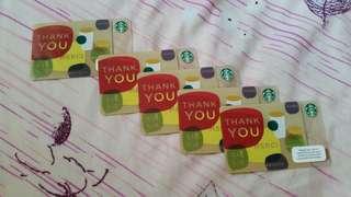 5 starbucks card