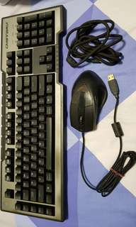 Cooler Master Mechanical Keyboard and Mouse.