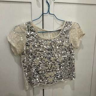 Miss Selfridge sequinn top
