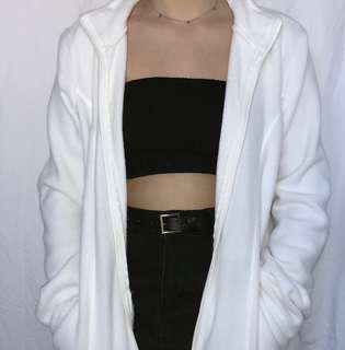 Really soft white zip up jumper