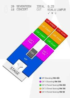 2018 SEVENTEEN Concert 'Ideal Cut' in Kuala Lumpur 馬來西亞場✨💎