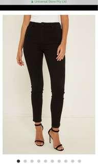 A brand High A Skinny Black Jeans