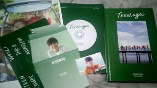 SEVENTEEN TEEN,AGE GREEN VER. COMPLETE INCLUSIONS